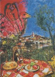 Sale 8881A - Lot 5019 - After Marc Chagall (1897 - 1985) - The Picnic 67.5 x 49 cm
