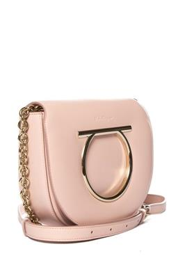 Sale 9250F - Lot 87 - A Salvadore Ferragamo crossbody pink bag, with gold chain & hardware. (Brand New) RRP 2900 Height 20cm
