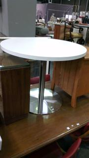Sale 7944A - Lot 1035 - Modern White Cafe Table