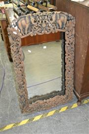 Sale 8115 - Lot 1071 - Carved Timber Framed Mirror