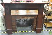 Sale 8272 - Lot 1003 - Mahogany Fire Surround