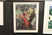 Sale 8332 - Lot 2036 - Artist Unknown (XX) Abstract, oil on board, unsigned, framed.