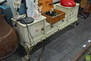 Sale 8338 - Lot 1607 - Painted Dressing Table w 2 Doors & Drawers