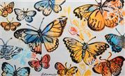 Sale 8545A - Lot 5045 - David Bromley (1960 - ) - Butterflies 77 x 126cm (frame size: 99 x 147.5cm)
