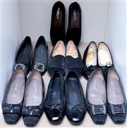 Sale 8593A - Lot 129 - Six pairs of womens black shoes including Evaluna, Joanne Mercer court shoes Piazza Grande ect, size 39