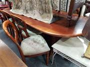 Sale 8724 - Lot 1071 - Timber Dining Setting incl. Extension Table with Single Leaf & Eight Chairs