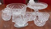 Sale 8908H - Lot 38 - A quantity of cut glass dessert ware including comport, Height of stand 11cm