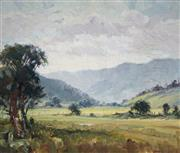 Sale 8975 - Lot 567 - Attributed to Adelaide Elizabeth Perry (1891 - 1973) - Grey Evening - Albion Park 37 x 44 cm (frame: 47 x 54 x 3 cm)