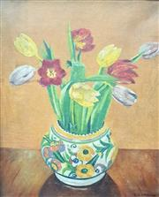Sale 9058 - Lot 2006 - C.G Skirrow Floral Still Life, oil on canvas, frame: 36 x 31 cm, signed lower right