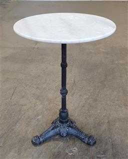 Sale 9174 - Lot 1113 - Marble Top Round Table (50 x 75cm)