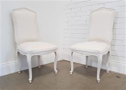 Sale 9188 - Lot 1513A - Painted set of 4 French style dining chairs (h:107 x d:53cm)