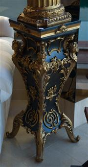 Sale 7984 - Lot 75 - A pair of waisted Boulle style plinths, H 95 cm