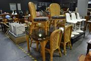 Sale 7987A - Lot 1058 - Cane 7 Piece Dining Setting
