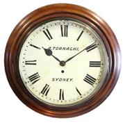 Sale 8169 - Lot 10 - Angelo Tornaghi Wall Clock from The Lands Title Office