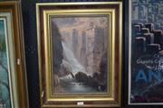 Sale 8429A - Lot 2011 - Artist Unknown (XIX - XX) - Waterfall, 1888 34 x 24cm