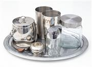 Sale 8471H - Lot 76 - A group lot of EP wares including tray and ice bucket