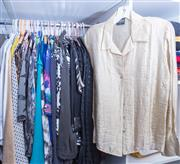 Sale 8593A - Lot 130 - A quantity of womens contemporary and vintage shirts and tops including Anthea Crawford, Basque, Ellen Tracy and Perri Cutten, size...