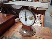 Sale 8717 - Lot 1053 - Vintage Bench Top Salter Scales