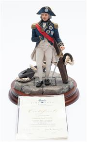 Sale 8873A - Lot 14 - A resin figure of Admiral Nelson