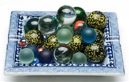 Sale 9164 - Lot 136 - A collection of mostly bonker-sized marbles
