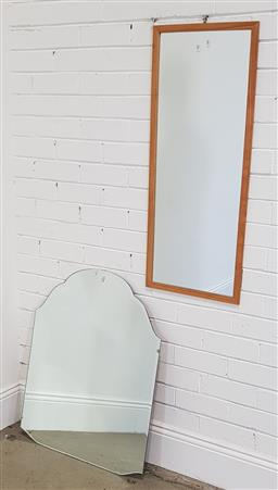Sale 9174 - Lot 1119 - Timber framed mirror and another