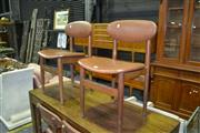 Sale 8013 - Lot 1462 - Set Of Four Parker Dining Chairs In Brown Upholstery