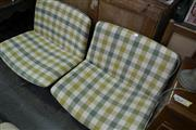 Sale 8105 - Lot 1046 - Pair Of Chequered Swivel Chairs