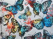 Sale 8475 - Lot 525 - David Bromley (1960 - ) - Butterflies 76.4 x 104cm