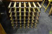Sale 8566 - Lot 1667 - Timber and Metal Wine Rack