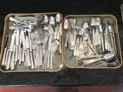 Sale 8677B - Lot 694 - Two trays of assorted cutlery