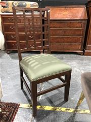 Sale 8697 - Lot 1616 - Pair of Fabric Upholstered Checker Back Dining Chairs