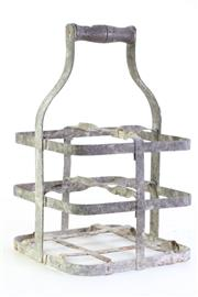 Sale 8968C - Lot 957 - Old French Bottle Carrier (Height: 35cm)