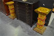 Sale 8099 - Lot 801 - Highly Decorated Pair of Chinese Plinths