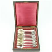 Sale 8279 - Lot 53 - French Silver 950 Standard Grapefruit Spoons Set for Twelve Persons