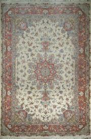 Sale 8402C - Lot 45 - Superfine Persian Silk Tabriz 316cm x 200cm