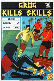 Sale 8475 - Lot 566 - Marie McMahon (1953 - ) - Grog Kills Skills, 1988 51 x 76cm