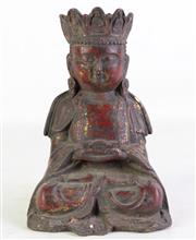 Sale 8940T - Lot 692 - A Cast Metal Seated Buddha Figure (H 20cm)