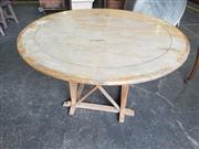 Sale 8959 - Lot 1062 - Round Timber Outdoor Table (H:74 x D:140cm)
