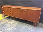 Sale 9022 - Lot 1004 - Teak Sideboard with 2 Doors and 4 Drawer (h:74 x w:196 x d:46cm)