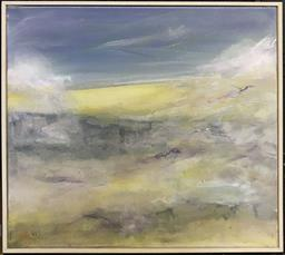 Sale 9106 - Lot 2029 - Hilary Steel Morning on the Bay, 2020, oil on canvas, frame: 47 x 47 cm, signed and dated lower left -