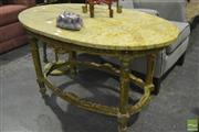 Sale 8305 - Lot 1051 - Oval Marble Top Occasional Table
