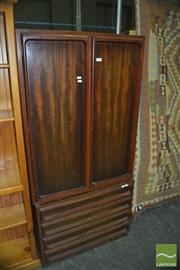 Sale 8331 - Lot 1702 - Timber Two Piece Drinks Cabinet