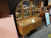 Sale 8465 - Lot 1615 - Bow Front Mirrored Back Dresser