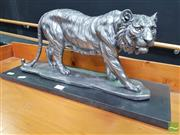 Sale 8480 - Lot 1002 - Silvered Tiger Statue
