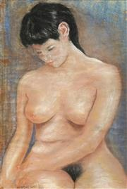 Sale 8682 - Lot 2029 - Artist Unknown - Seated Nude, 1968 60 x 40cm
