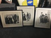 Sale 8695 - Lot 2079 - Set of (6) Honore Daumier Editioned Prints ( framed [4]/ mounted [2] )