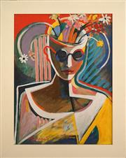 Sale 8734A - Lot 9 - Diana Portingale - Beautiful Mind 71 x 56cm (frame size)