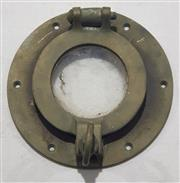Sale 8976N - Lot 312 - Small Brass Porthole Cover (d:165mm)