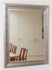 Sale 9066H - Lot 56 - A Coco Republic silver framed bevelled edged mirror. 122 x 96