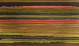Sale 9096 - Lot 553 - Ben Pushman (1979 - ) Scar #29, 2004 acrylic on canvas 174.5 x 300 cm signed and dated lower right